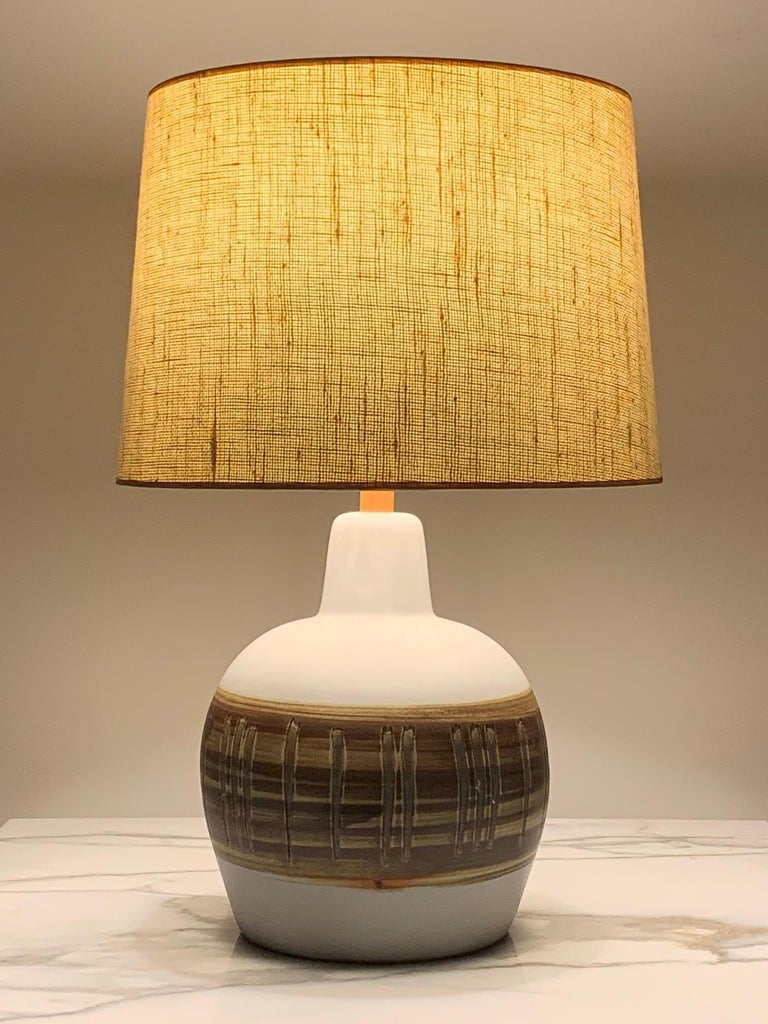 Pair of Unusual Ceramic Lamps by Gordon Martz For Sale 9