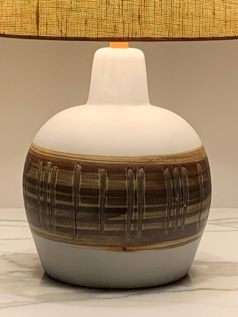 Pair of Unusual Ceramic Lamps by Gordon Martz For Sale 10