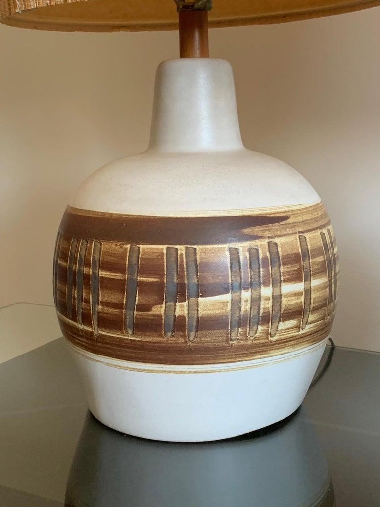 Mid-20th Century Pair of Unusual Ceramic Lamps by Gordon Martz For Sale