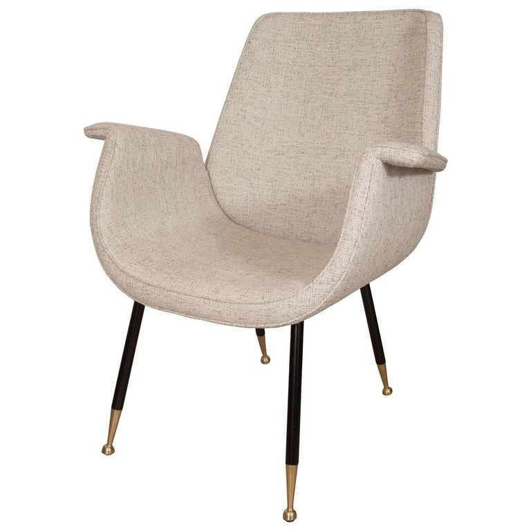 Pair of Unusual Curvy Armchairs For Sale