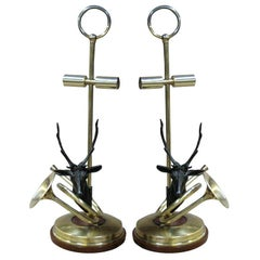 Pair of unusual French Library Table lamps.