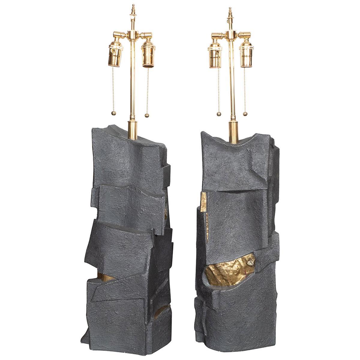Pair of Unusual Resin Table Lamps