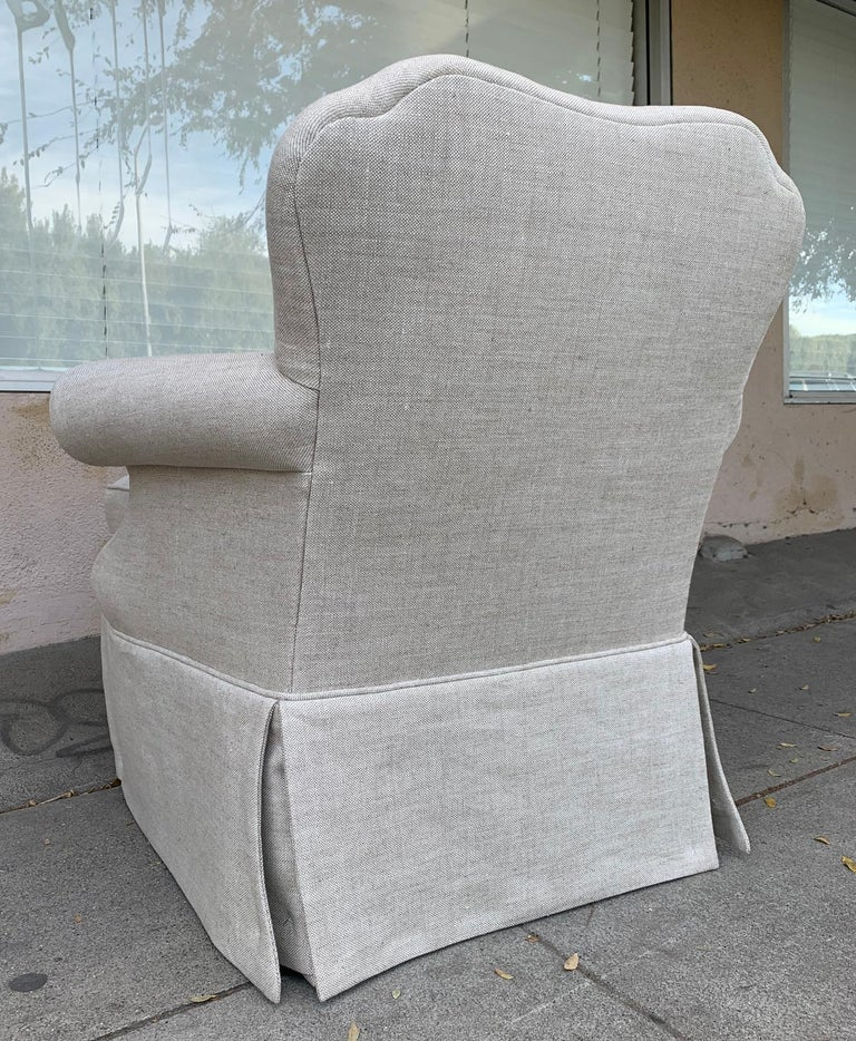 Modern Pair of Upholstered Armchairs by J. Robert Scott For Sale