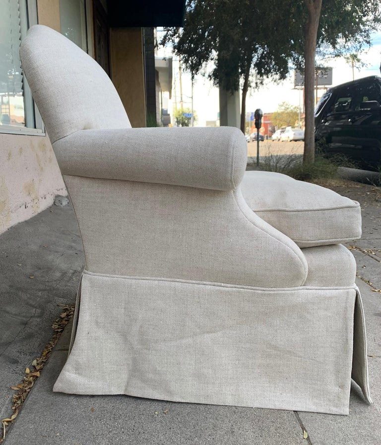 American Pair of Upholstered Armchairs by J. Robert Scott For Sale