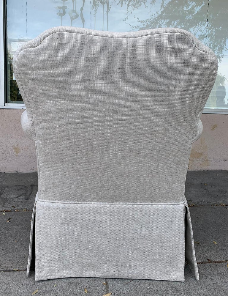 Pair of Upholstered Armchairs by J. Robert Scott In Excellent Condition For Sale In Los Angeles, CA