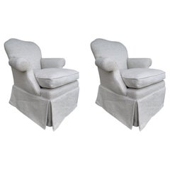 Pair of Upholstered Armchairs by J. Robert Scott