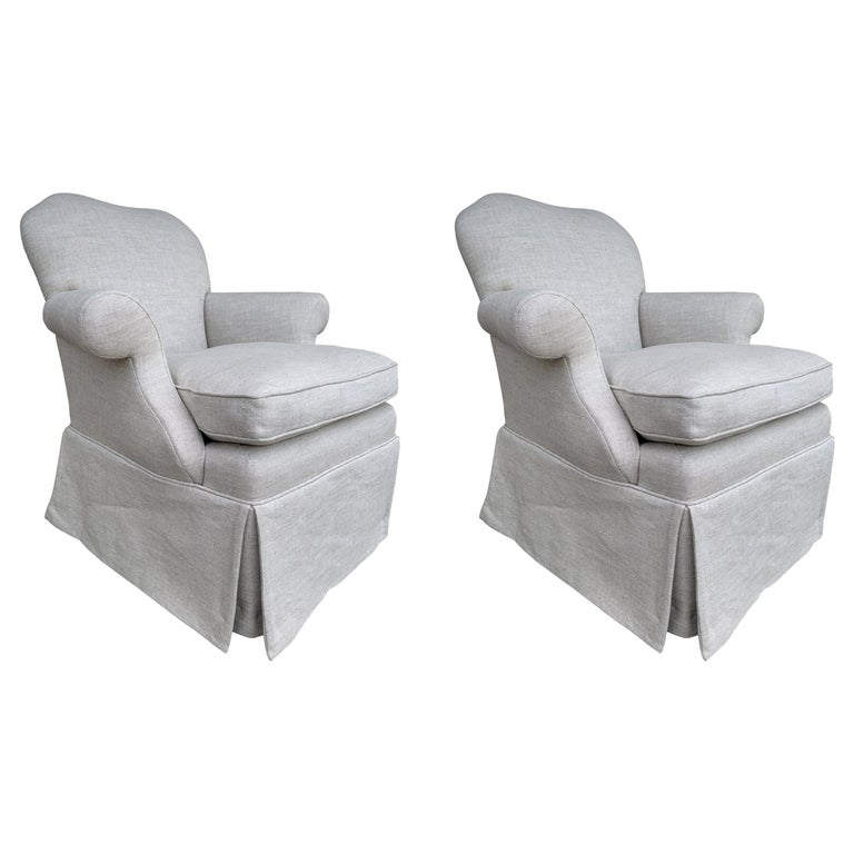 Pair of Upholstered Armchairs by J. Robert Scott For Sale