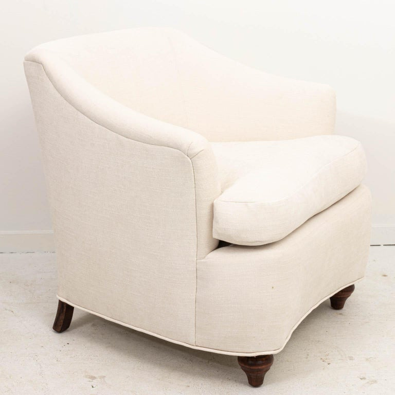 Pair of Upholstered Armchairs In Good Condition For Sale In Stamford, CT
