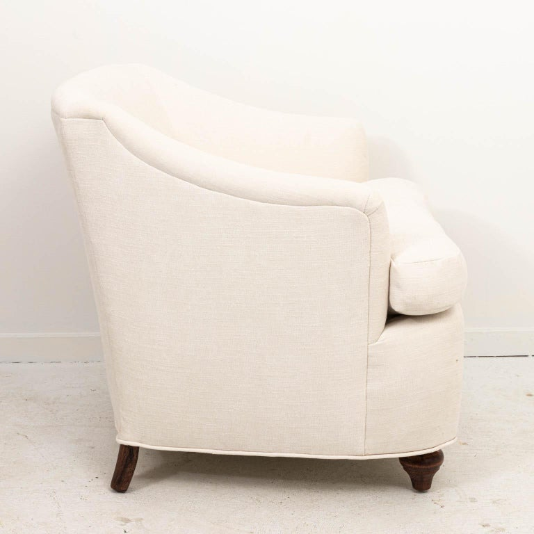 Mid-20th Century Pair of Upholstered Armchairs For Sale