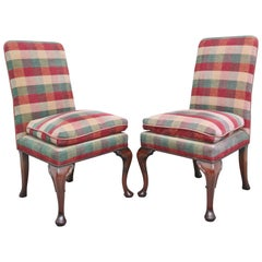 Pair of Upholstered Chairs in the George I Style