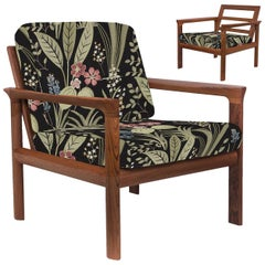 Pair of Upholstered Embroidered Sculptural Easy Chairs by Sven Ellekaer, 1960s
