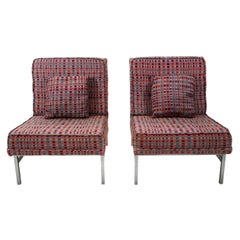 Pair of Upholstered Florence Knoll Side Chairs