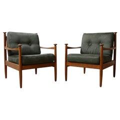 Pair of Upholstered German Midcentury Armchairs
