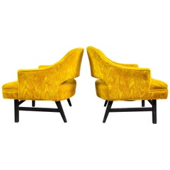Pair of Upholstered Lounge Chairs by Harvey Probber, US, 1960s