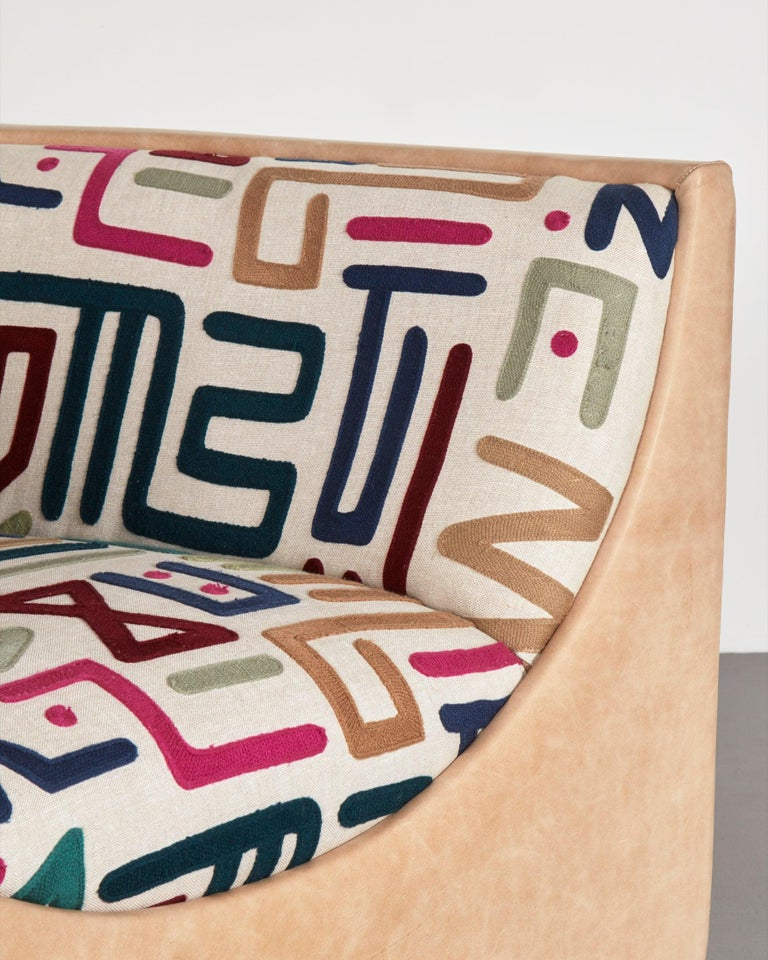 Upholstery Pair of Upholstered Lounge Chairs by Jorge Zalsupin, 1960s For Sale