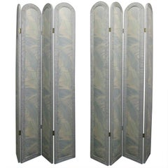 Pair of Upholstered Room Dividers or Screens