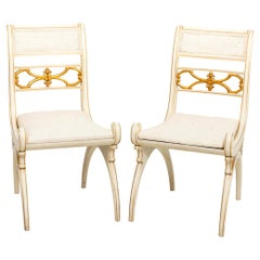 Pair of Upholstered Side Chairs in the Manner of Albert Hadley
