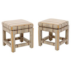 Pair of Upholstered Square Billy Baldwin Benches