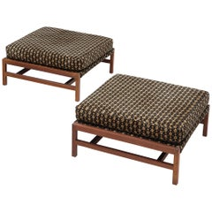 Pair of Upholstered Stools by Cassina