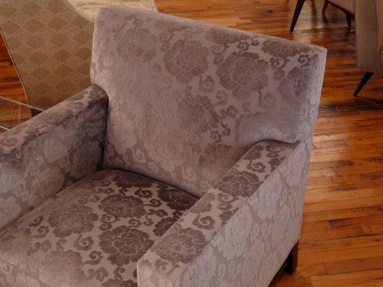 Upholstery Pair of Upholstered Velvet Club Chairs For Sale