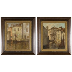 "Pair of Urban Views, ""Venice"", Marianne Lucy Le Poer Trench 'England, 1888-1940'"