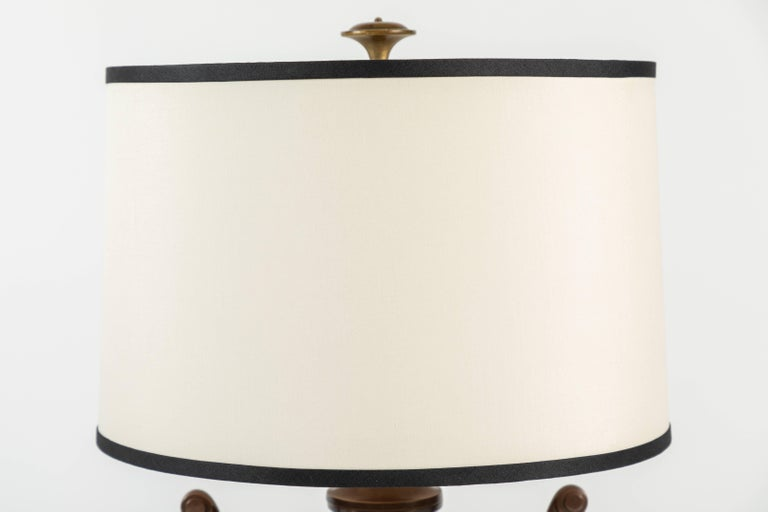 Pair of Urn Form Table Lamps by Chapman In Good Condition For Sale In Palm Desert, CA