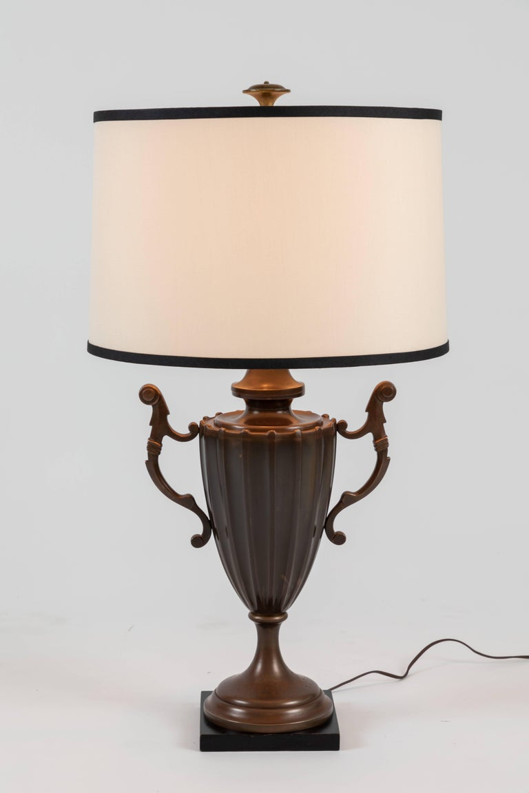 Late 20th Century Pair of Urn Form Table Lamps by Chapman For Sale