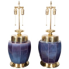 Pair of Urn Shaped Ceramic Lamps