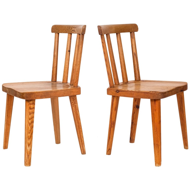 """Pair of """"Utö"""" Chairs by Axel-Einar Hjorth, 1930s For Sale"""