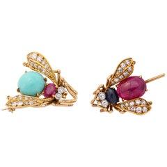 Pair of Van Cleef & Arpels Bee Pins
