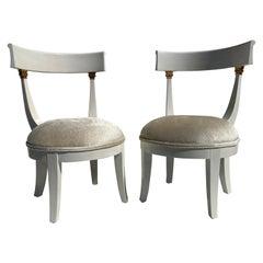 Pair of Vanity Slipper Chairs