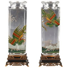 Pair of Vases Attributed to Baccarat
