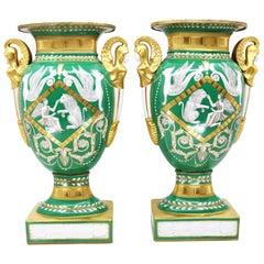 Pair of Vases, Empire Style, 19th Century, Paris