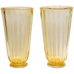 Ein Paar Vasen aus Murano-Glas