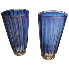 """Pair of Vases in Murano Glass Signed """"A Dona"""""""