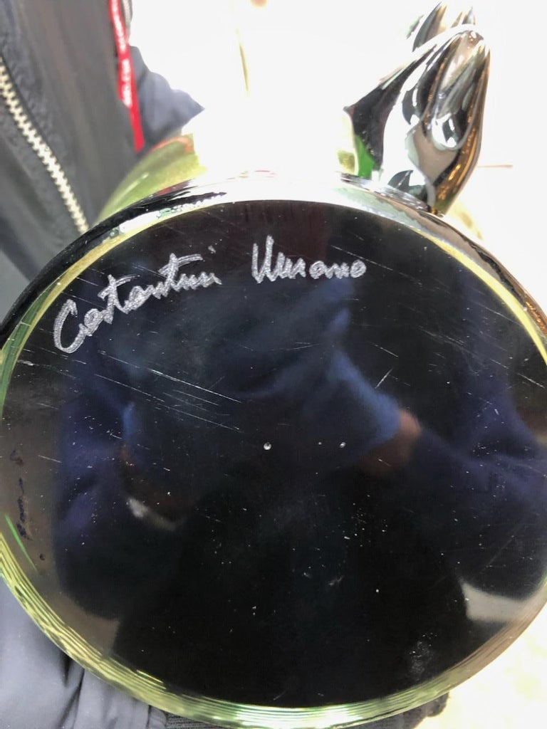 "Italian Pair of Vases in Murano Glass Signed ""Costantini Murano"" For Sale"