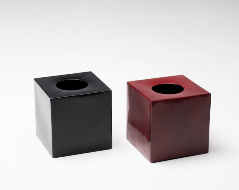 Italian Pair of Vases Model 585 by Ettore Sottsass, Italy, 1960 For Sale