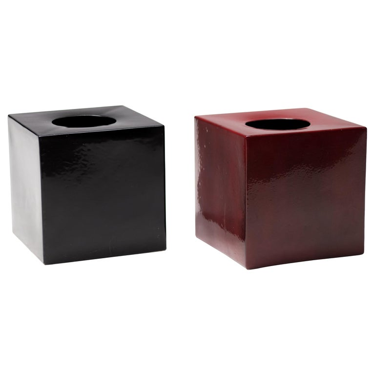 Pair of Vases Model 585 by Ettore Sottsass, Italy, 1960 For Sale