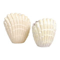 Pair of Vases Seashell by Vicke Lindstrand for Upsala Ekeby, Sweden