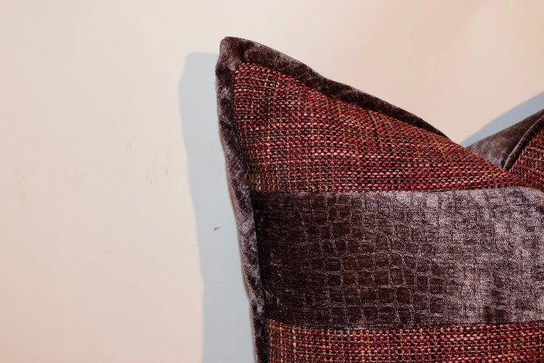 Modern Handmade Velvet Pillows For Sale