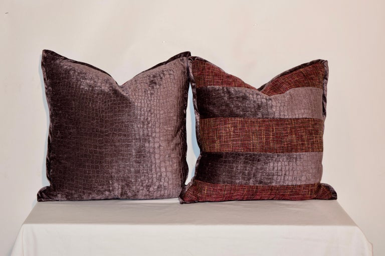 Hand-Crafted Handmade Velvet Pillows For Sale