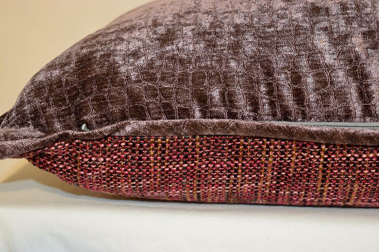 Handmade Velvet Pillows In New Condition For Sale In High Point, NC