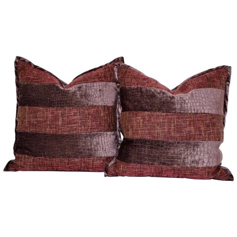 Handmade Velvet Pillows For Sale