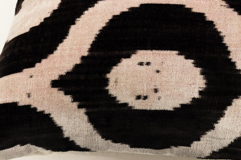 Late 20th Century Pair of Velvet Throw Pillows For Sale