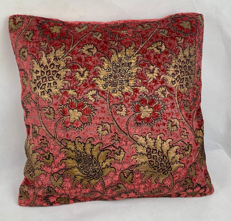 Pair of Venetia Studium/Fortuny Square Velvet Cushions-the Bizarre Pattern For Sale 4