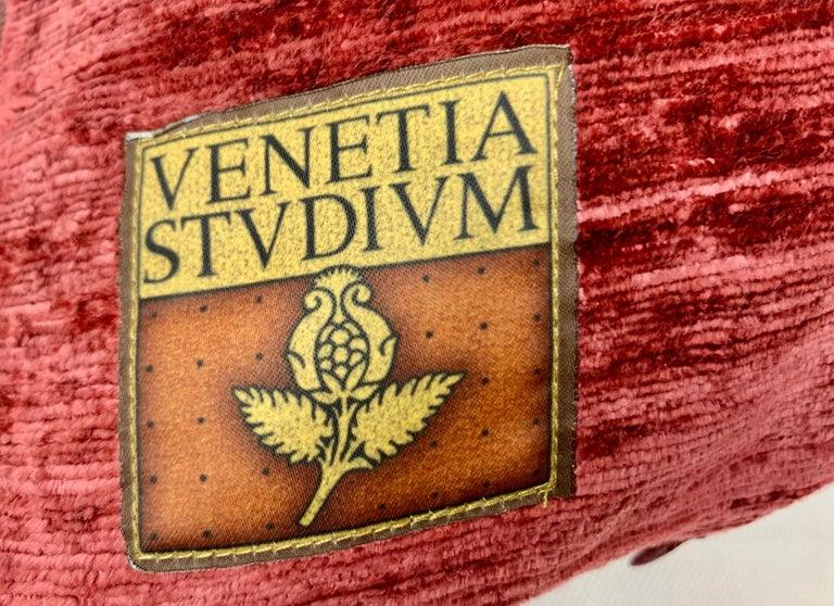 Italian  Pair of Venetia Studium/Fortuny Oblong Velvet Cushion in the Bizarre Pattern For Sale
