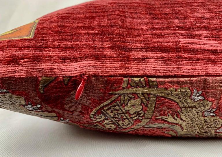 Contemporary  Pair of Venetia Studium/Fortuny Oblong Velvet Cushion in the Bizarre Pattern For Sale