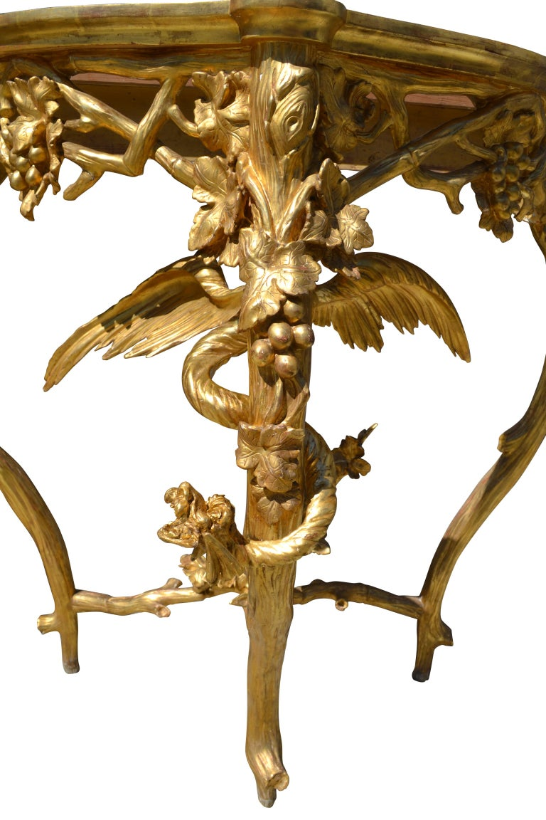 Pair of Venetian 18th-19th Century Rococo Dragon and Bird Mirrors and Consoles For Sale 5