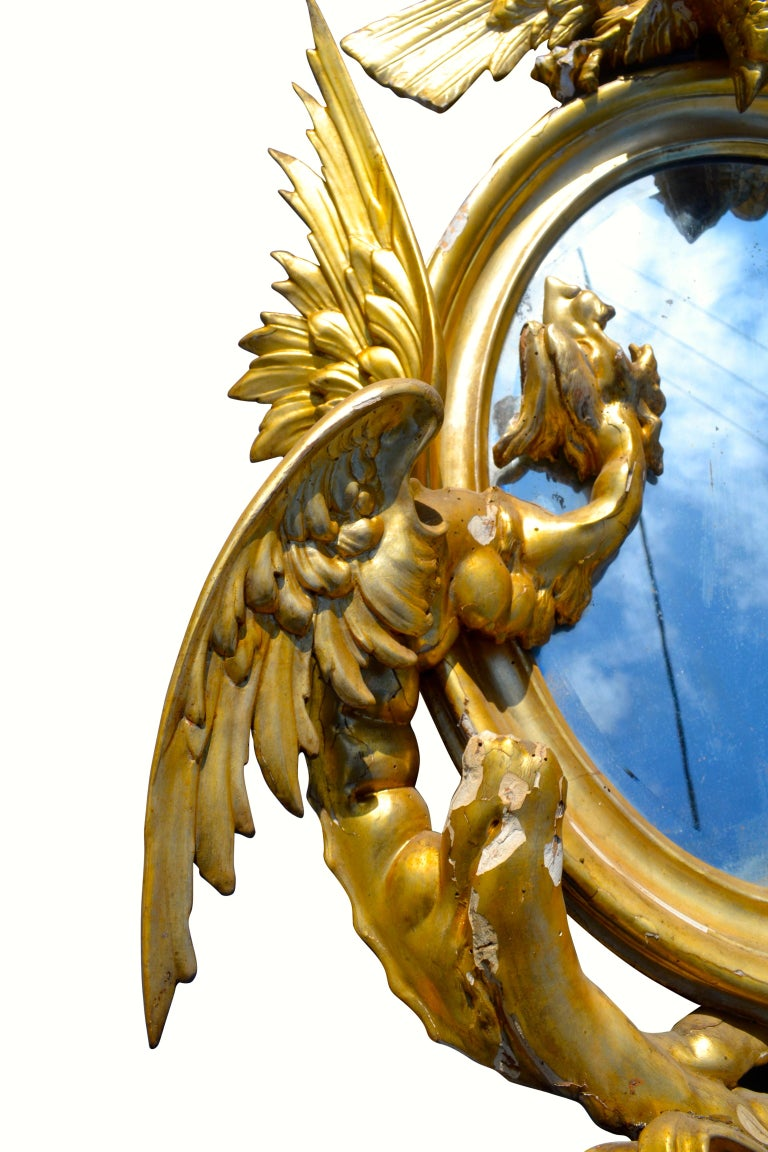 Pair of Venetian 18th-19th Century Rococo Dragon and Bird Mirrors and Consoles For Sale 10