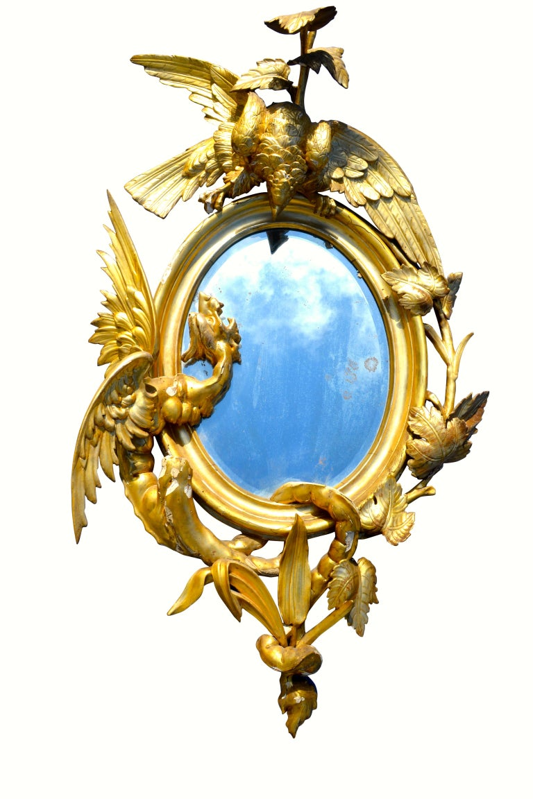 Pair of Venetian 18th-19th Century Rococo Dragon and Bird Mirrors and Consoles For Sale 11